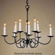 Hubbardton Forge 73324 Simple Lines 10-Light Candelabra Chandelier