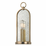 Hudson Valley 091-AGB Lowell Vintage Aged Brass Finish 4.75  Wide Wall Sconce