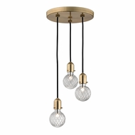 Hudson Valley 1103-AGB Marlow Modern Aged Brass Xenon Multi Hanging Pendant Lighting