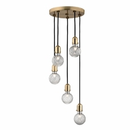 Hudson Valley 1105-AGB Marlow Modern Aged Brass Xenon Multi Pendant Hanging Light