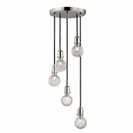 Hudson Valley 1105-PN Marlow Contemporary Polished Nickel Xenon Multi Hanging Light Fixture