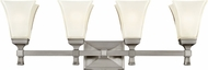 Hudson Valley 1174-SN Kirkland Satin Nickel 4-Light Bath Lighting Fixture
