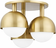 Hudson Valley 1203-AGB Foster Modern Aged Brass Ceiling Lighting