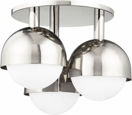 Hudson Valley 1203-PN Foster Contemporary Polished Nickel Ceiling Light Fixture