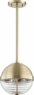 Hudson Valley 1210-AGB Easton Contemporary Aged Brass Mini Pendant Lighting