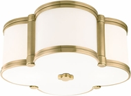 Hudson Valley 1212-AGB Chandler Aged Brass 12.5  Ceiling Lighting