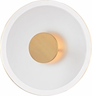 Hudson Valley 1213-AGB Guthrie Contemporary Aged Brass LED Wall Light Fixture