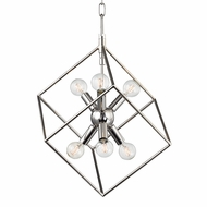 Hudson Valley 1215-PN Roundout Modern Polished Nickel Foyer Light Fixture
