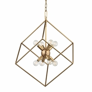 Hudson Valley 1220-AGB Roundout Contemporary Aged Brass Foyer Lighting Fixture