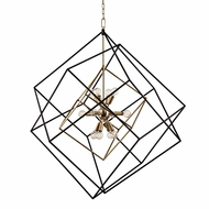 Hudson Valley 1234-AGB Roundout Contemporary Aged Brass Foyer Lighting Fixture
