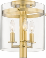Hudson Valley 1303-AGB Baxter Contemporary Aged Brass Ceiling Light