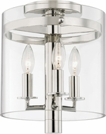 Hudson Valley 1303-PN Baxter Modern Polished Nickel Ceiling Lighting Fixture