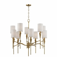 Hudson Valley 1305-AGB Tate Aged Brass Chandelier Lamp