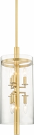 Hudson Valley 1306-AGB Baxter Modern Aged Brass Mini Pendant Lighting
