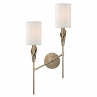 Hudson Valley 1312L-AGB Tate Aged Brass Finish 13  Wide Sconce Lighting
