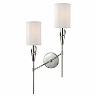 Hudson Valley 1312L-PN Tate Polished Nickel Finish 13  Wide Lighting Sconce