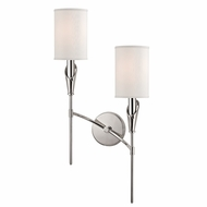 Hudson Valley 1312R-PN Tate Polished Nickel Finish 25  Tall Wall Light Fixture