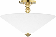 Hudson Valley 1318-AGB Flare Modern Aged Brass Ceiling Light Fixture