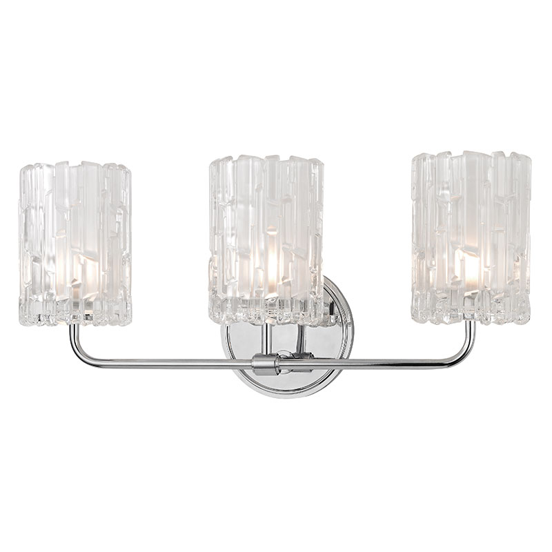 Hudson Valley 1333 Pc Dexter Polished Chrome Xenon 3 Light Vanity Light Fixture