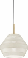 Hudson Valley 1383-AGB-WH Calverton Contemporary Aged Brass / White Mini Drop Lighting Fixture