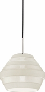 Hudson Valley 1383-PN-WH Calverton Contemporary Polished Nickel / White Mini Pendant Light