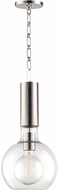 Hudson Valley 1409-PN Raleigh Modern Polished Nickel Mini Hanging Pendant Lighting