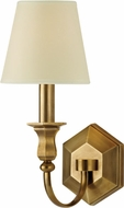 Hudson Valley 1411-AGB Charlotte Aged Brass Wall Sconce Light