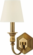 Hudson Valley 1411-AGB-WS Charlotte Aged Brass Wall Sconce