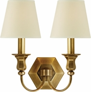 Hudson Valley 1412-AGB Charlotte Aged Brass Lighting Sconce