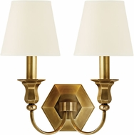 Hudson Valley 1412-AGB-WS Charlotte Aged Brass Lamp Sconce