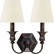 Hudson Valley 1412-OB-WS Charlotte Old Bronze Wall Light Fixture