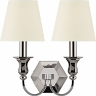 Hudson Valley 1412-PN-WS Charlotte Polished Nickel Wall Lighting Sconce