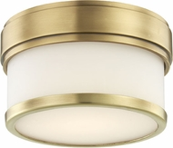 Hudson Valley 1420-AGB Gemma Contemporary Aged Brass LED Ceiling Lighting Fixture