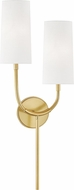 Hudson Valley 1422-AGB Vesper Aged Brass Wall Lighting Sconce