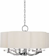 Hudson Valley 1426-PN Garrison Polished Nickel 26  Drum Pendant Light
