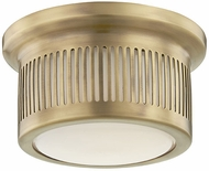 Hudson Valley 1440-AGB Bangor Contemporary Aged Brass LED Flush Mount Lighting Fixture