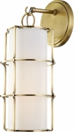 Hudson Valley 1500-AGB Sovereign Contemporary Aged Brass LED Sconce Lighting