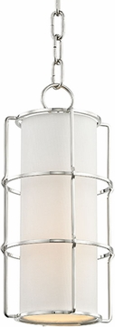 Hudson Valley 1510-PN Sovereign Modern Polished Nickel LED Mini Ceiling Light Pendant