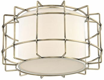 Hudson Valley 1514-AGB Sovereign Modern Aged Brass LED Ceiling Light Fixture