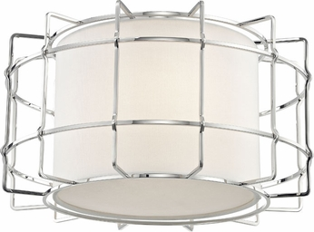 Hudson Valley 1514-PN Sovereign Modern Polished Nickel LED Ceiling Light Fixture