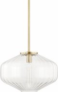 Hudson Valley 1518-AGB Bennett Contemporary Aged Brass Hanging Lamp