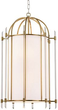 Hudson Valley 1519-AGB Delancey Modern Aged Brass 19  Foyer Lighting Fixture