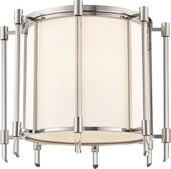 Hudson Valley 1521-PN Delancey Contemporary Polished Nickel Ceiling Light