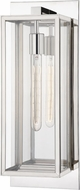 Hudson Valley 1541-PN Sea Cliff Modern Polished Nickel Indoor / Outdoor Lighting Sconce