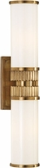 Hudson Valley 1562-AGB Harper Modern Aged Brass Bath Wall Sconce