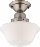 Hudson Valley 1609F-SN Edison Collection Satin Nickel Flush Mount Ceiling Light Fixture