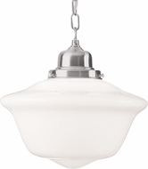 Hudson Valley 1615-SN Edison Collection Satin Nickel 15  Hanging Pendant Light