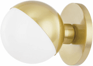Hudson Valley 1661-AGB Lodi Contemporary Aged Brass LED Wall Sconce Light