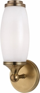Hudson Valley 1681-AGB Brooke Contemporary Aged Brass Wall Light Fixture