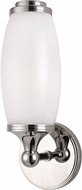 Hudson Valley 1681-PN Brooke Contemporary Polished Nickel Wall Lighting Sconce